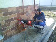 Изготовление отверстий под коммуникации в стенах и перекрытиях.